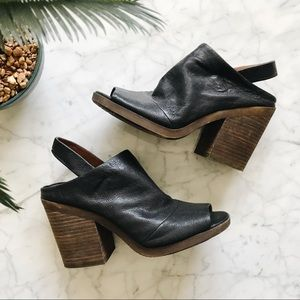 Lucky Brand Oleandre Black Leather Black Heel